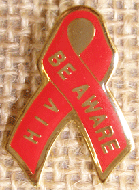 *HIV-BE AWARE Lapel Pin