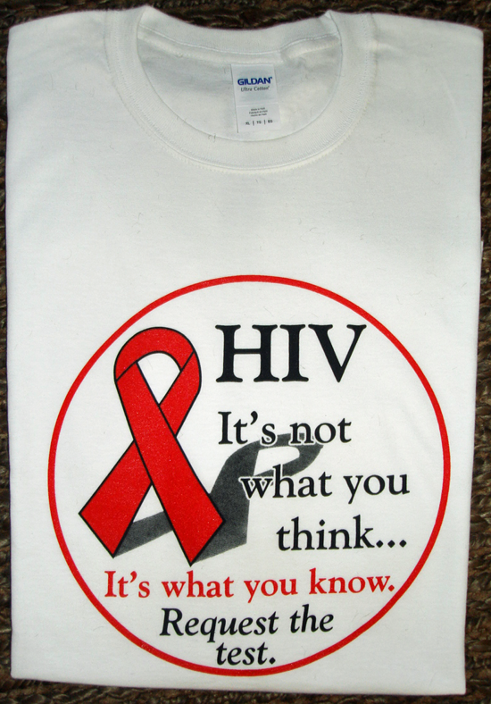 HIV Request the test -100% Cotton Tee Shirt