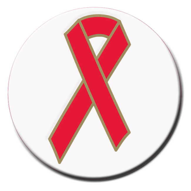 Red Ribbon Stickers - Roll of 1,000