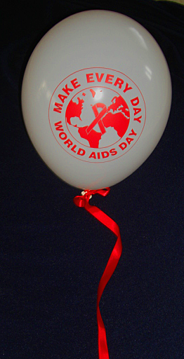 MAKE EVERY DAY WORLD AIDS DAY - Balloons