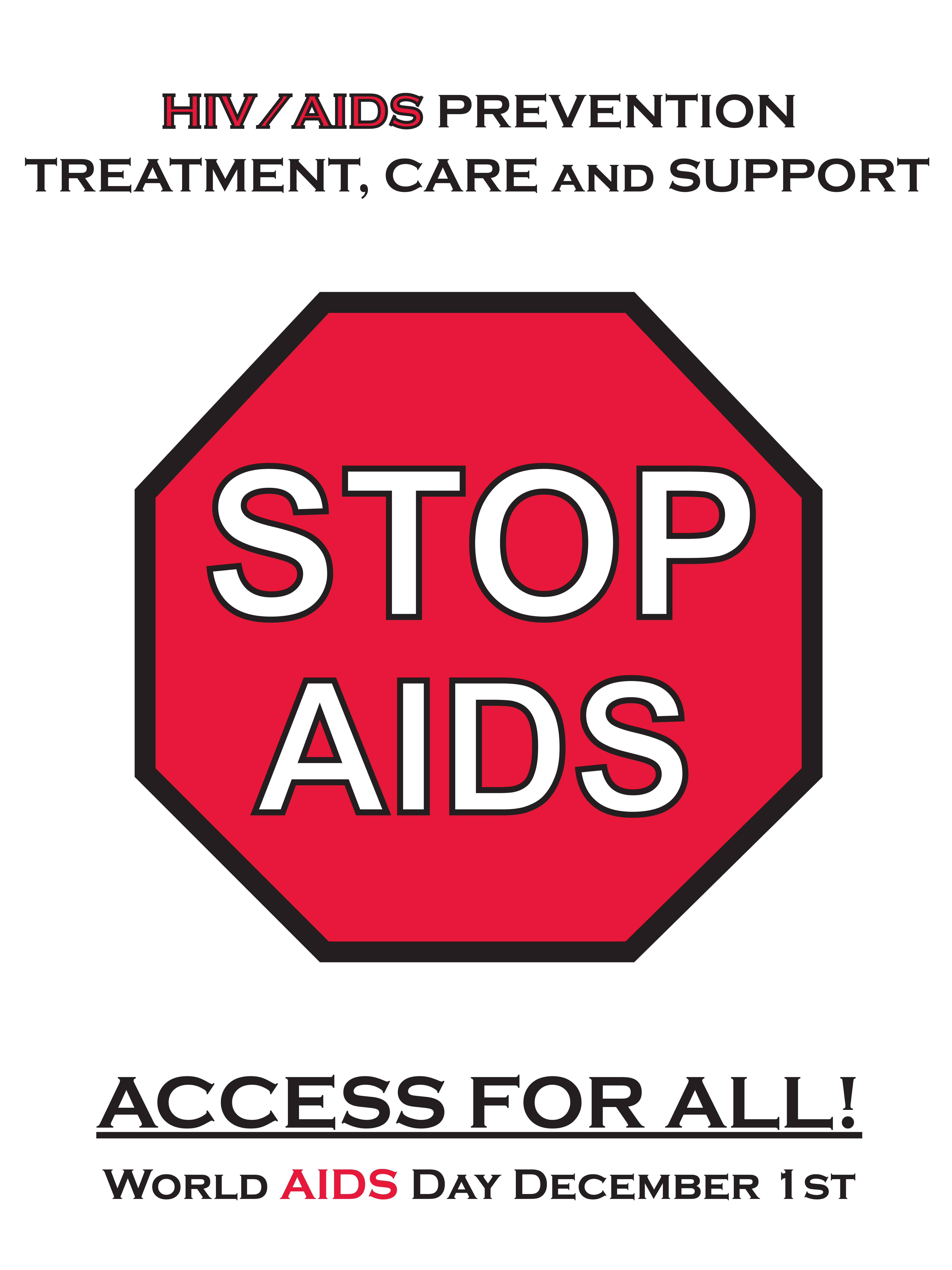 STOP AIDS HIV/AIDS Prevention- Poster