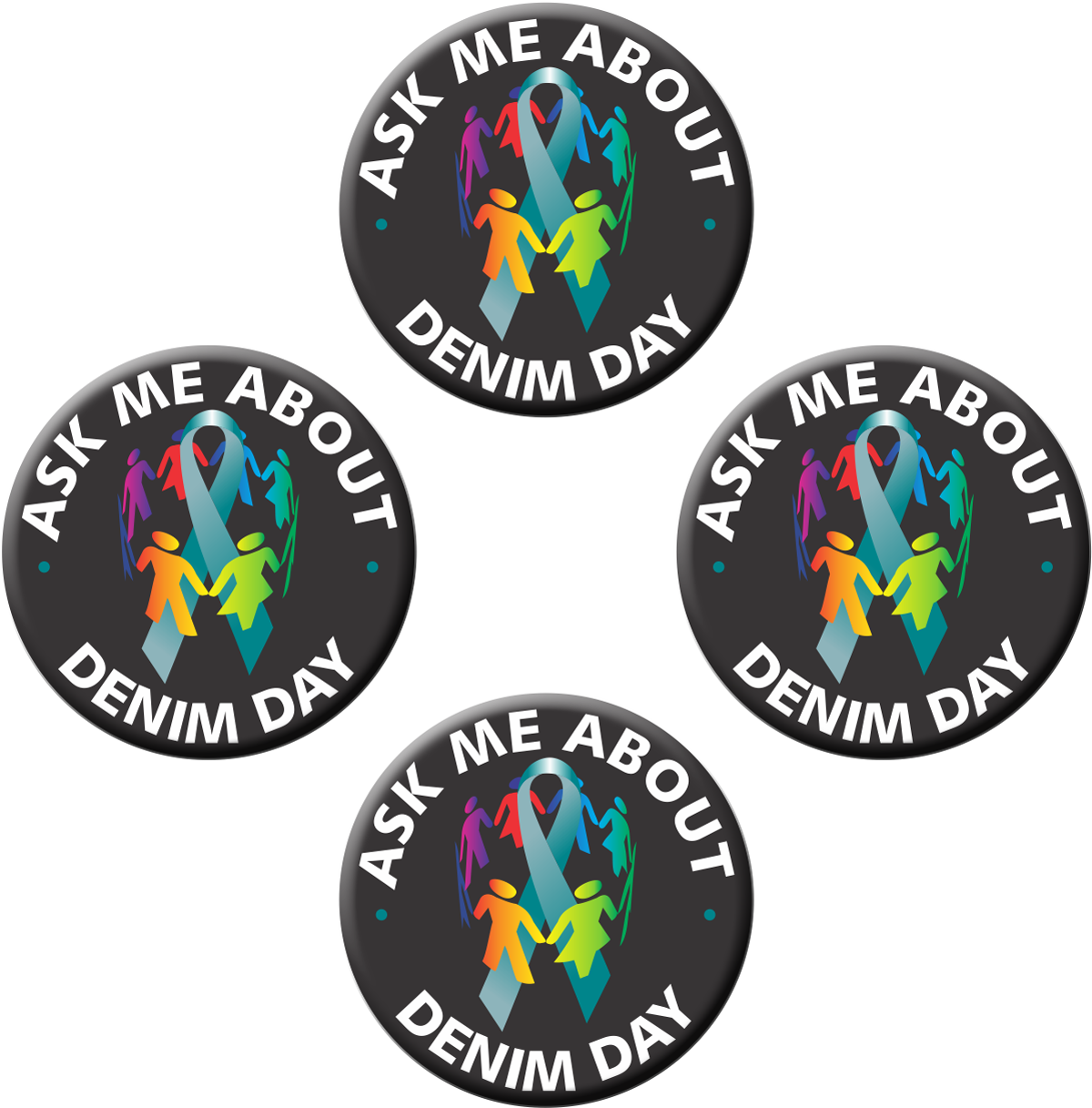 "Ask Me About Denim Day - 1½"" Buttons"