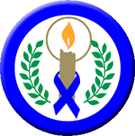 Candle of Hope Blue Ribbon Button