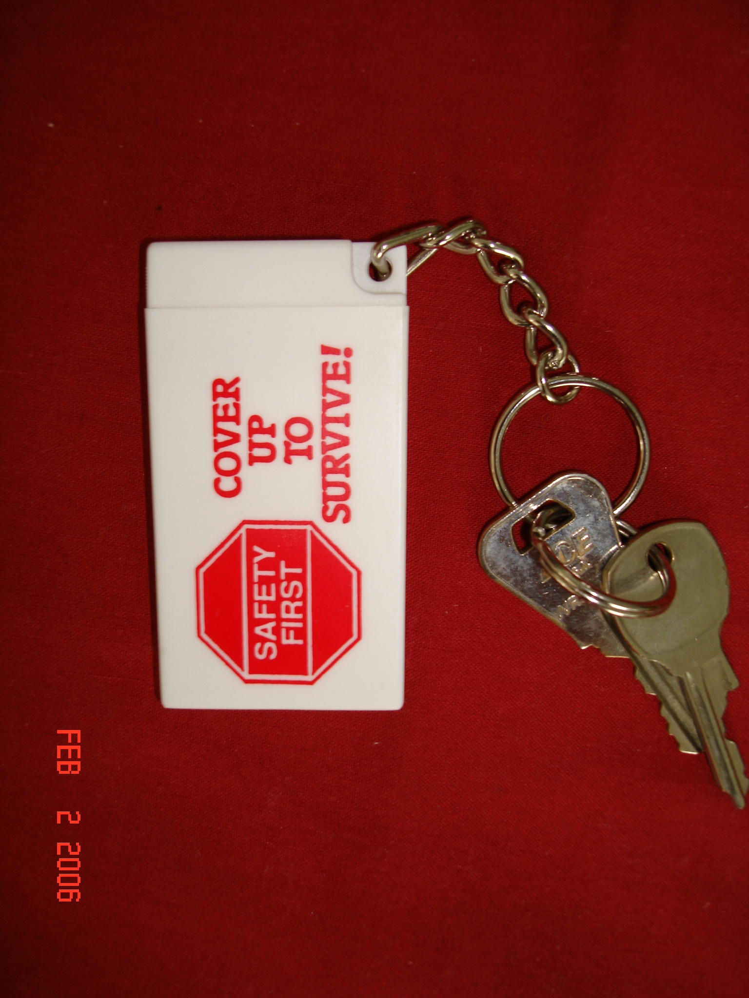 TAKE THE TEST - Condom Key Chain
