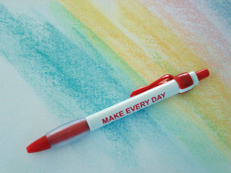 WORLD AIDS EVERY DAY- Red Ribbon Clip Pen