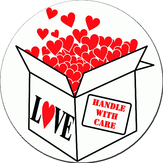 LOVE:HANDLE WITH CARE Stickers