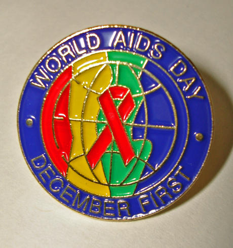 """World AIDS Day December First"" - Lapel Pin"