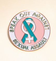 Teal Ribbon w/ Women's Sign...Speak Out