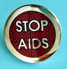 Reflector STOP AIDS - Lapel Pin