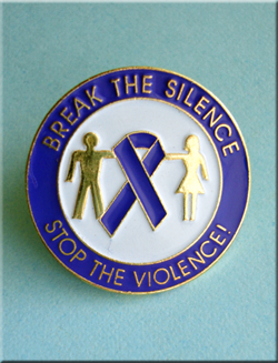Break The Silence Stop The Violence - Pin