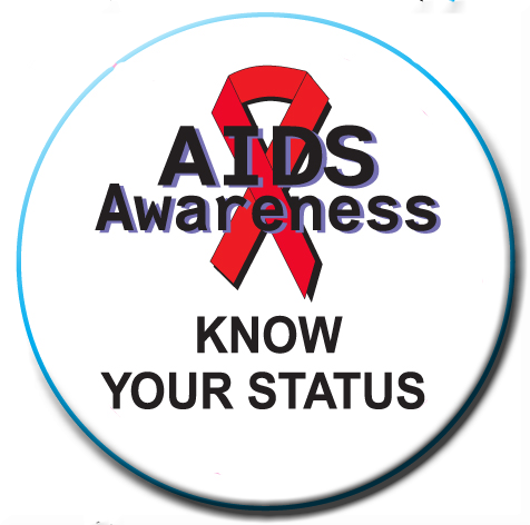 KNOW YOUR STATUS - World AIDS Day Button
