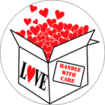 HANDLE WITH CARE Stickers-Roll of 1000.