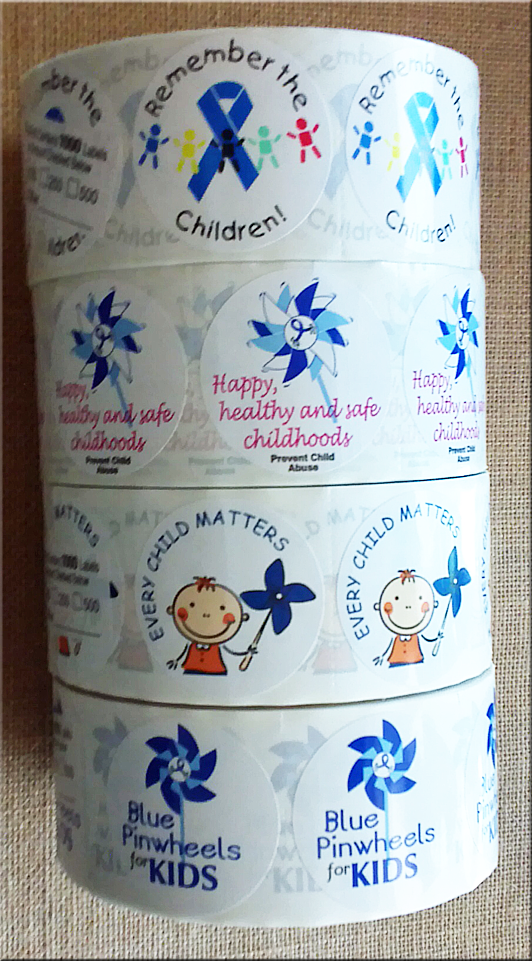 Roll of 1,000  Blue Ribbon Stickers