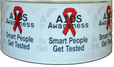 """Smart People Get Tested"" Stickers - Roll of 1,000"