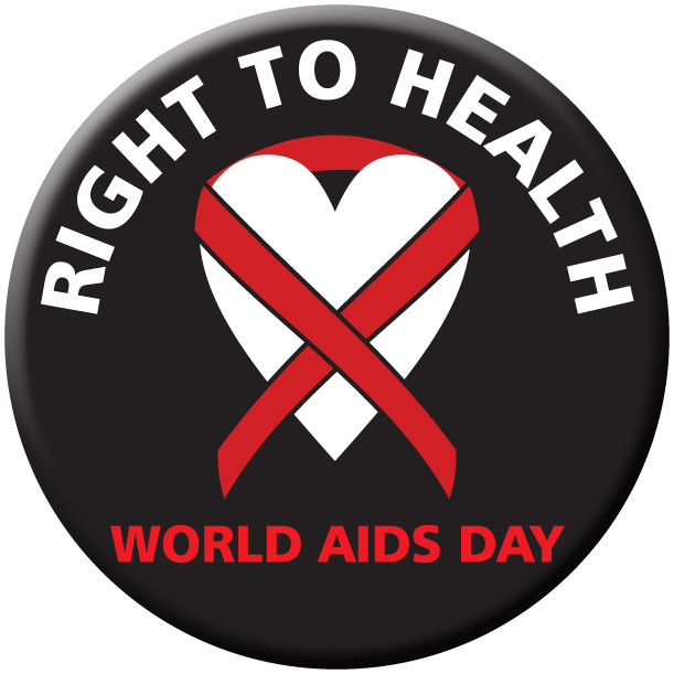 """""""The Right to Health"""" World AIDS Day Stickers- Roll of 1,000"""