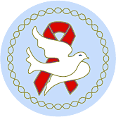 Dove Red Ribbon Pin