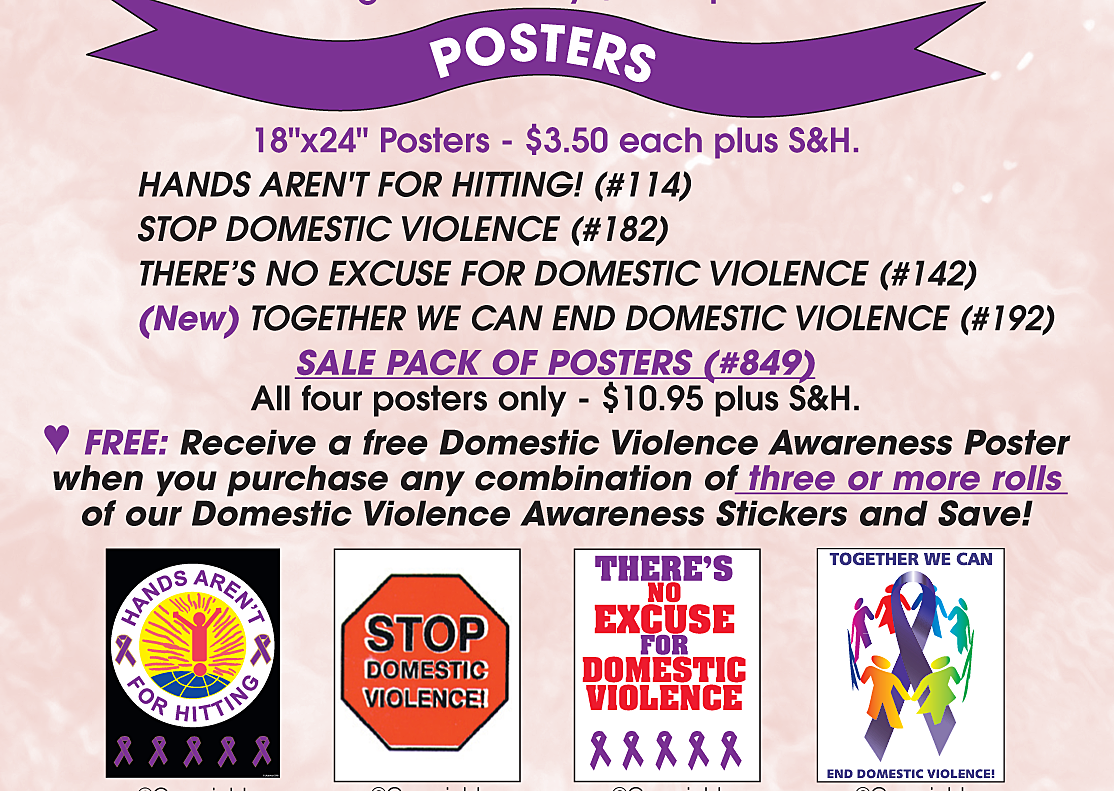 DOMESTIC VIOLENCE-SALE PACK OF 4-POSTERS