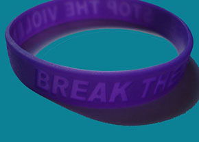 Break The Silence Stop The Violence - Bag of 25 Wristbands