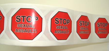 Stop(STOP)/Sexual Assault Awareness-Roll of 1000 Stickers