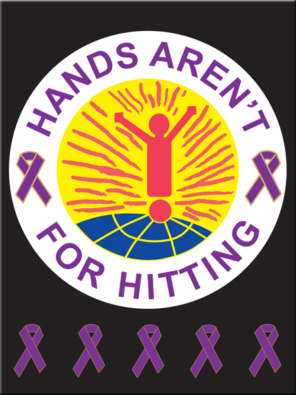 """HANDS AREN'T FOR HITTING"" - Poster"