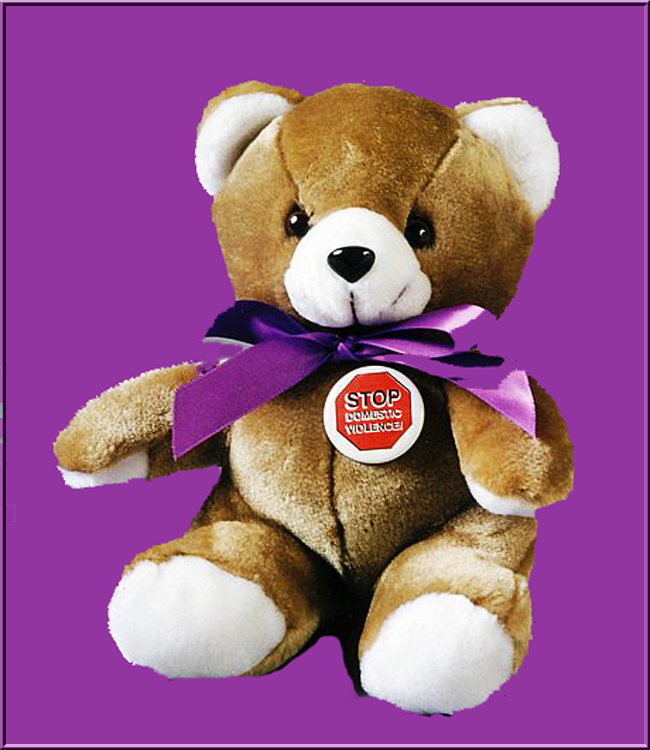 Stop Domestic Violence - Teddy Bear