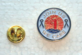 Join Us We Care Blue Ribbon - Lapel Pin