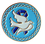 Dove Blue Ribbon - Lapel Pin
