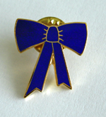 BLUE RIBBON BOW TIE PIN
