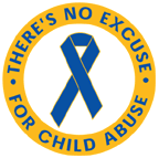 THERE'S NO EXCUSE FOR CHILD ABUSE Stickers