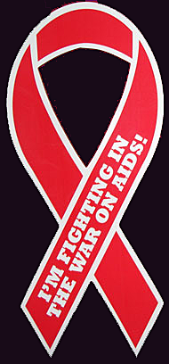 "I'M FIGHTING IN THE WAR ON AIDS! - 3½""x 8"" Large Magnet"