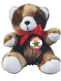 """DRUG ABUSE IS UN-BEARABLE"" Red Ribbon Teddy Bear"
