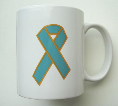 TEAL RIBBON - Mug