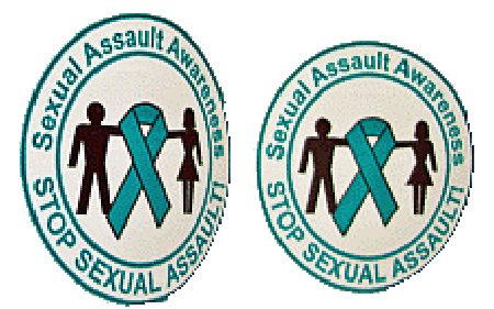 Stop/Sexual Assault Awareness - Roll of 1000 Stickers