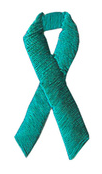 Teal Ribbon Embroidered Appliques(Package of 100)